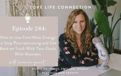 EP 244:  How to Use Fem/Masc Energy to Stop Procrastinating and Get Back on Track With Your Goals With Maureen
